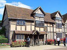 Shakespeare birthplace, image courtesy Wiki