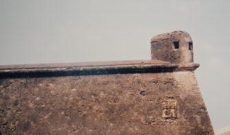 Wall of Moti Daman fort