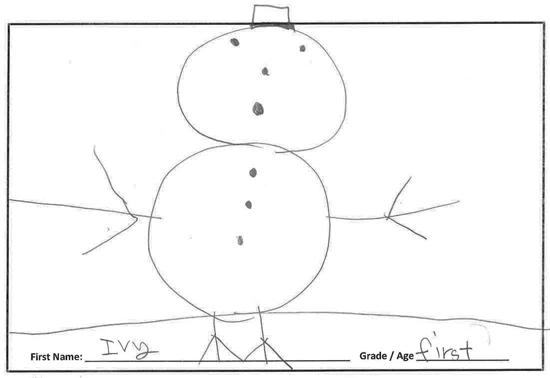 I like to make a snowman out of snow and sticks, and