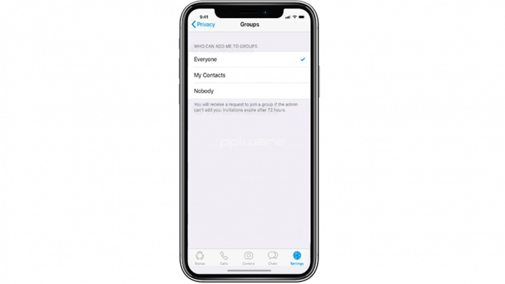 Apple iPhone iOS grupos de WhatsApp