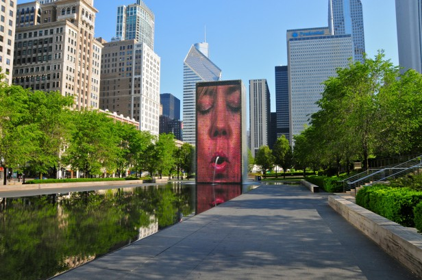 Chicago Apartments, Summer Activities, Crown Fountain