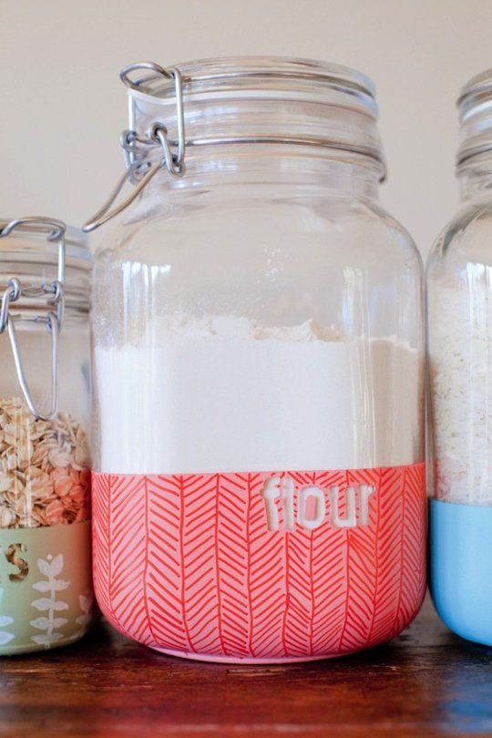 Chicago Apartments, DIY Projects, Dipped Kitchen Jar