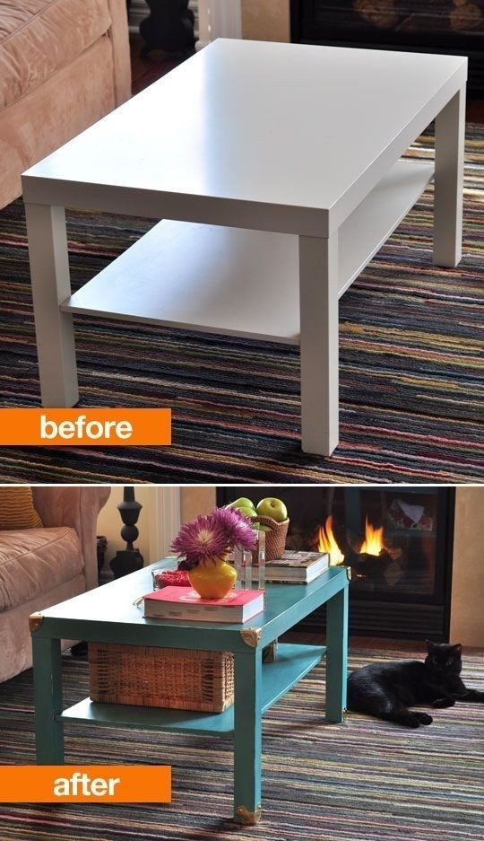 Chicago Apartments, DIY Projects, Lack Coffee Table Transformation