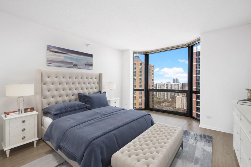 1111 N Dearborn Chicago Apartment Interior Bedroom 2