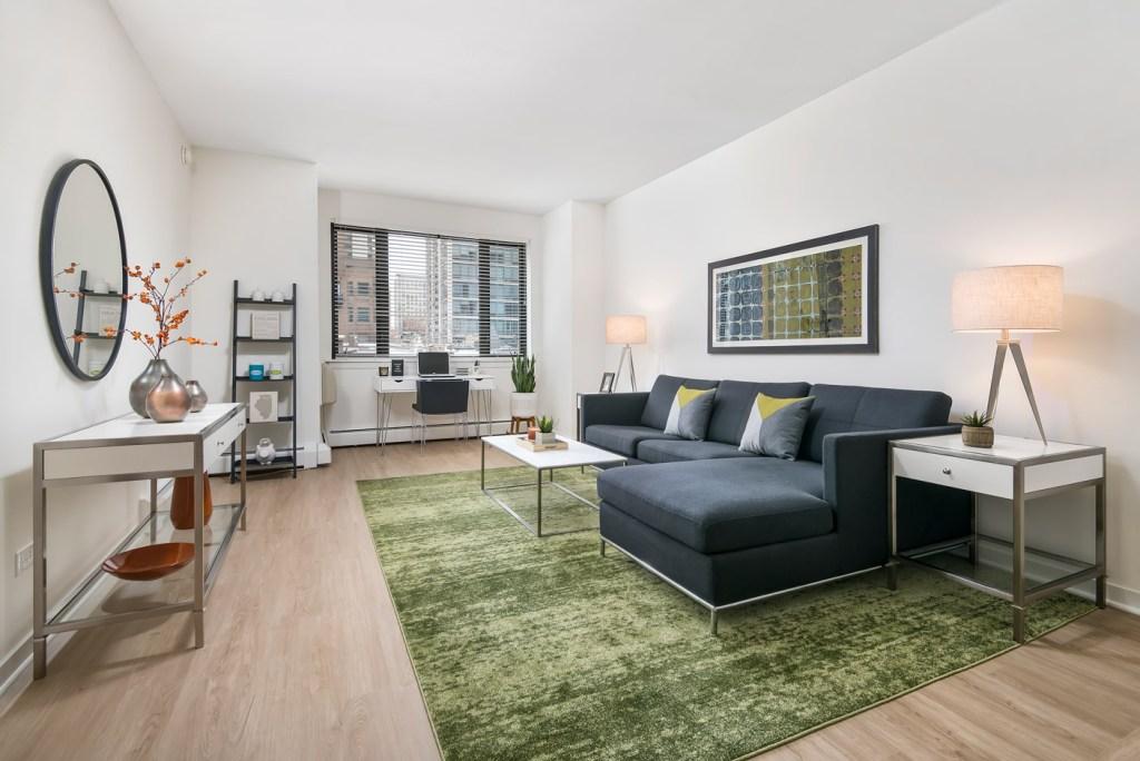 20 E Scott Living Room with View Interior Chicago Apartments Gold Coast - 1