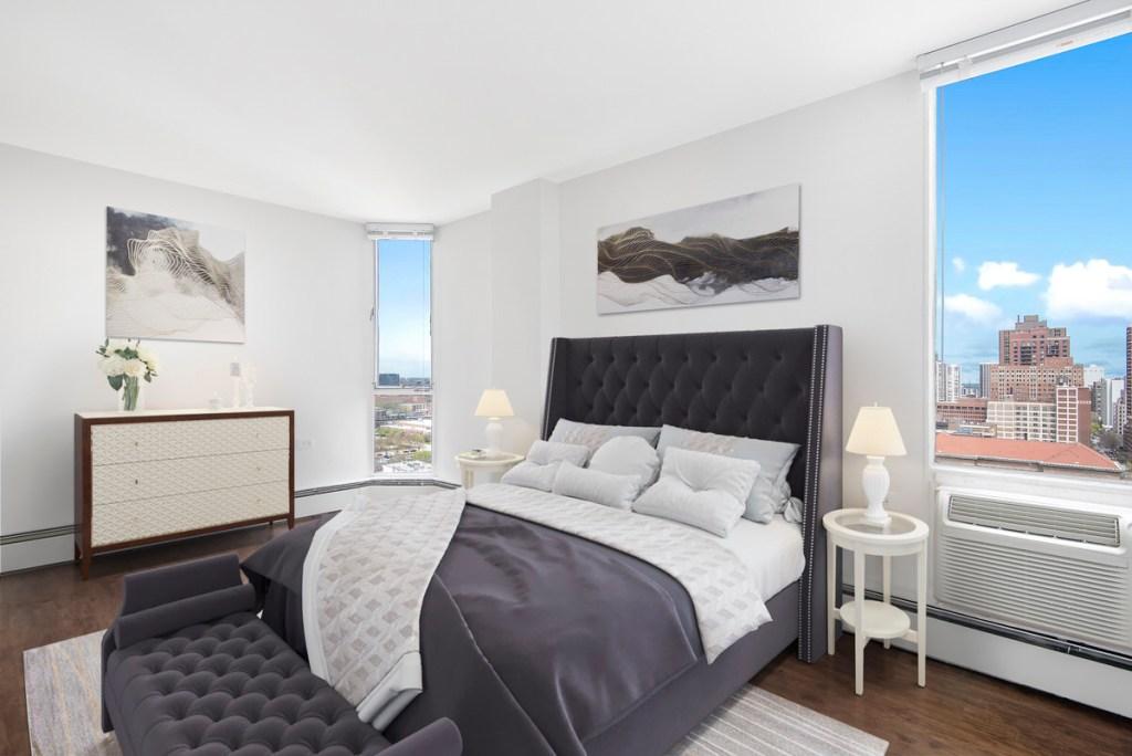 55 W Chestnut Chicago Apartment Interior Bedroom 1