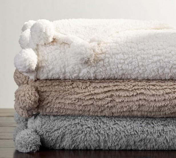 Chicago Apartments, Warm Blankets, Pottery Barn, Pom Pom Throw Blanket