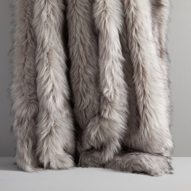 Chicago Apartments, Warm Blankets, West Elm, Faux Fur Brushed Tips Throw