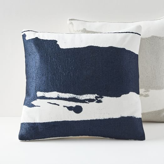 Chicago Apartments, West Elm, Ink Abstract Pillow Covers