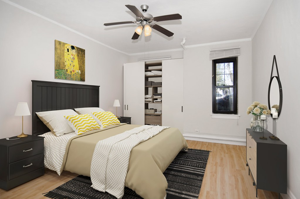 Chicago Apartments, Lakeview, 1049 W Oakdale Bedroom