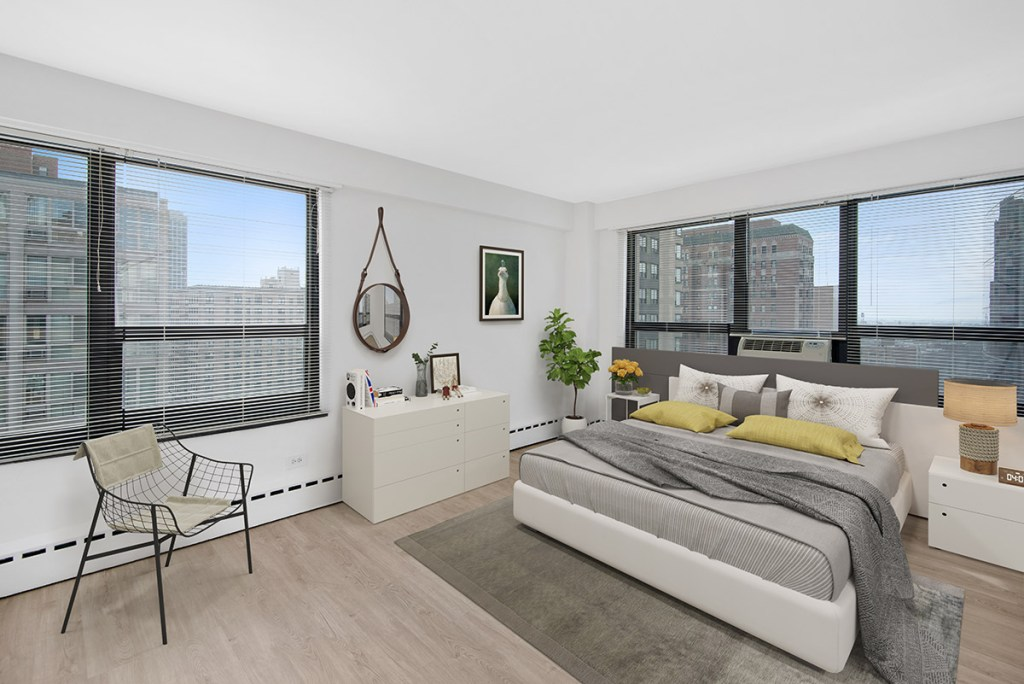 Chicago Apartments, Lakeview, 350 W Oakdale Bedroom