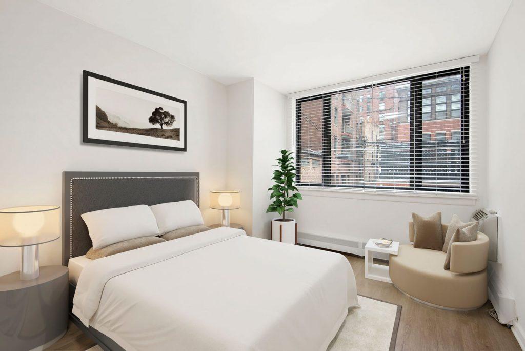 20 E Scott Bedroom Interior Chicago Apartments Gold Coast - 1