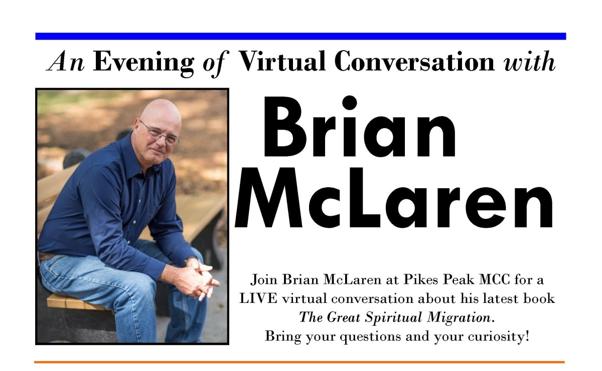 An Evening with Brian McLaren at Pikes Peak MCC