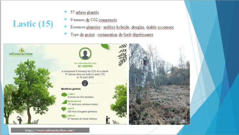 reforestation, MY KEEPER et RSE à Lastic