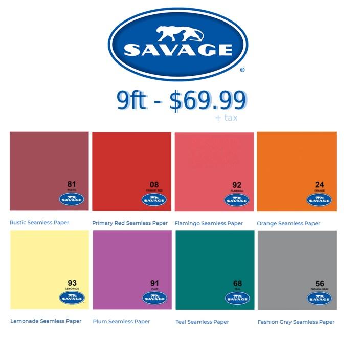 Savage color chart