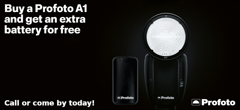 Free Profoto Batery with A1 purchase