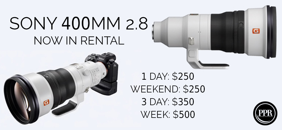 SONY 400MM 2.8 RENTAL