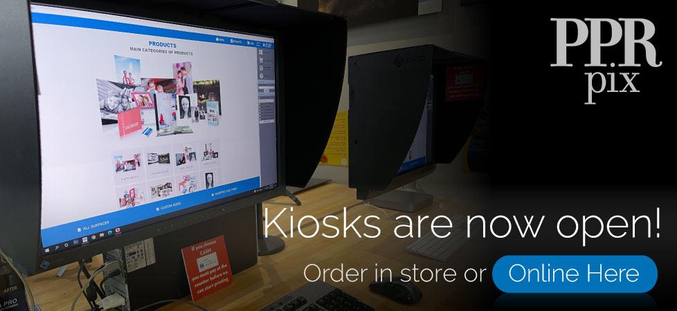 Kiosks are now open!
