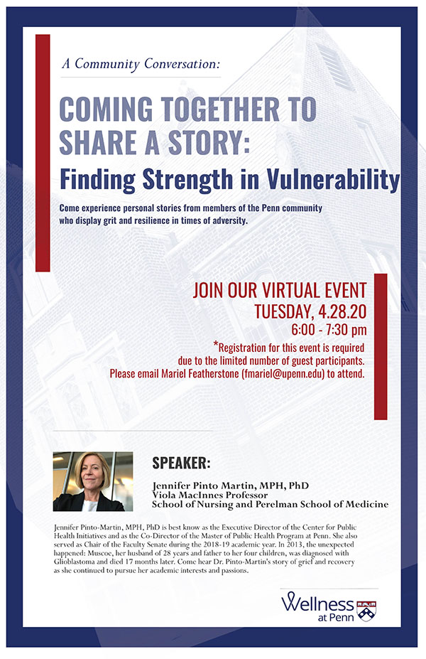 Community Conversation: Coming Together to Share a Story: Finding Strength in Vulnerability