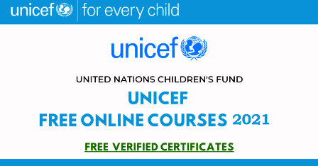 unicef free online courses 2021