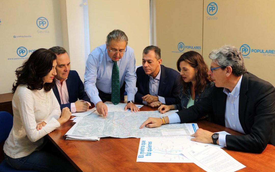El PP de Sevilla reclama un mínimo de un tercio de presupuesto de una de las líneas de Metro