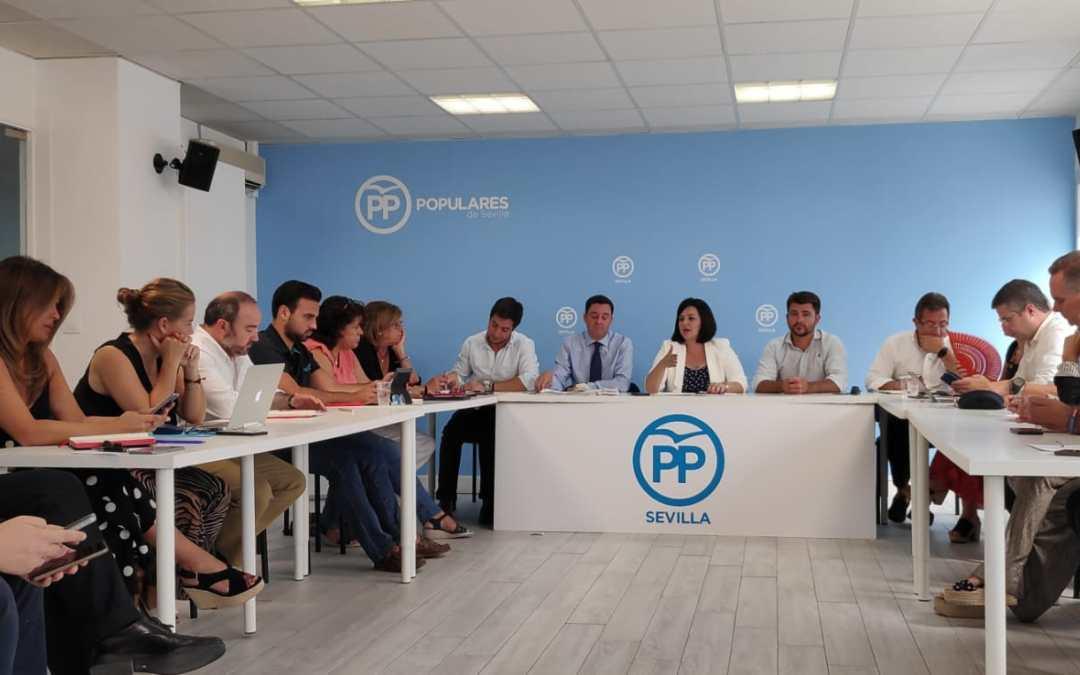 El PP exigirá en cada ayuntamiento de la provincia el fin del 'chantaje financiero' de Sánchez a la Junta y a los ayuntamientos sevillanos