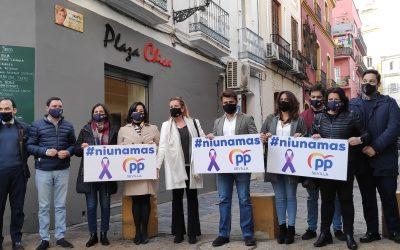 El PP de Sevilla alerta de la ausencia de denuncias previas en 30 de las 41 víctimas mortales e insta a las mujeres y su entorno a denunciar