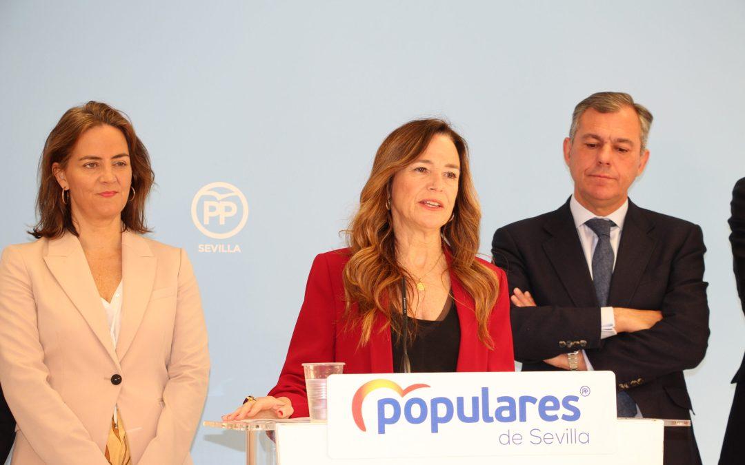 El PP de Sevilla propone que Teresa Jiménez-Becerril y José Luis Sanz vuelvan a liderar las listas al Congreso y al Senado para las elecciones del 10N