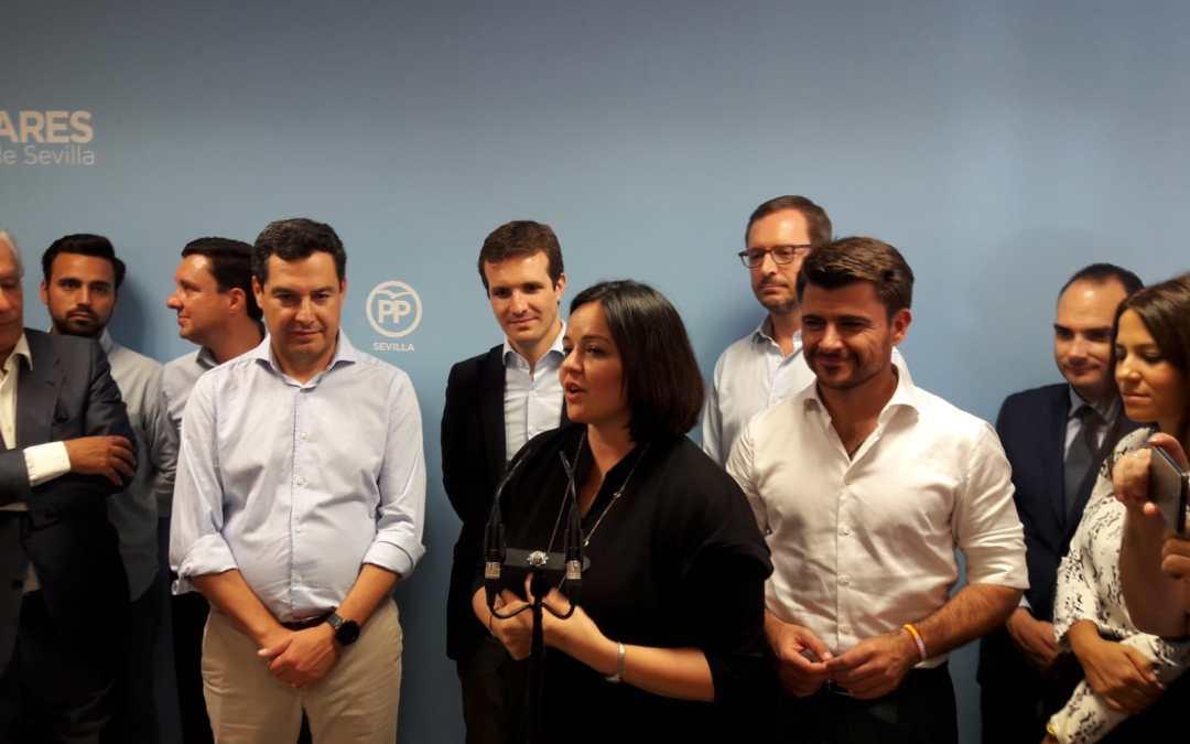 Pablo Casado inaugura la sede del PP de Sevilla y visita la Fabrica Ybarra en Dos Hermanas