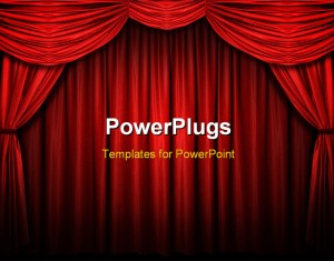 Red Curtain Background Powerpoint Templates And Powerpoint