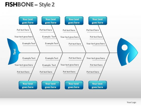sample fishbone diagram template hdmi setup style 2 powerpoint presentation slides