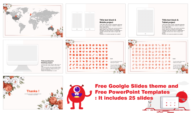 Beautiful Flower Free Google Slides theme Powerpoint