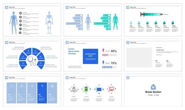 Clean Medical Service Free Google Slides Theme And