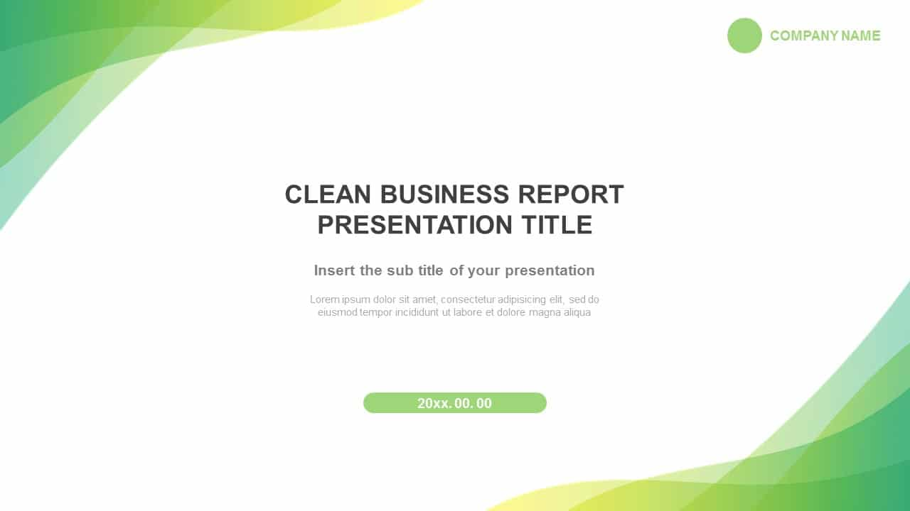 Clean Business Report Free Google Slides And Powerpoint Template