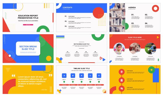 Education Report Free Powerpoint Templates And Google Slides