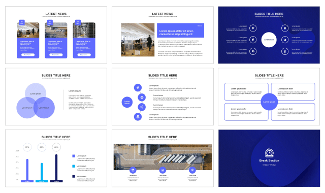 Abstract Business Presentation Templates Free Download