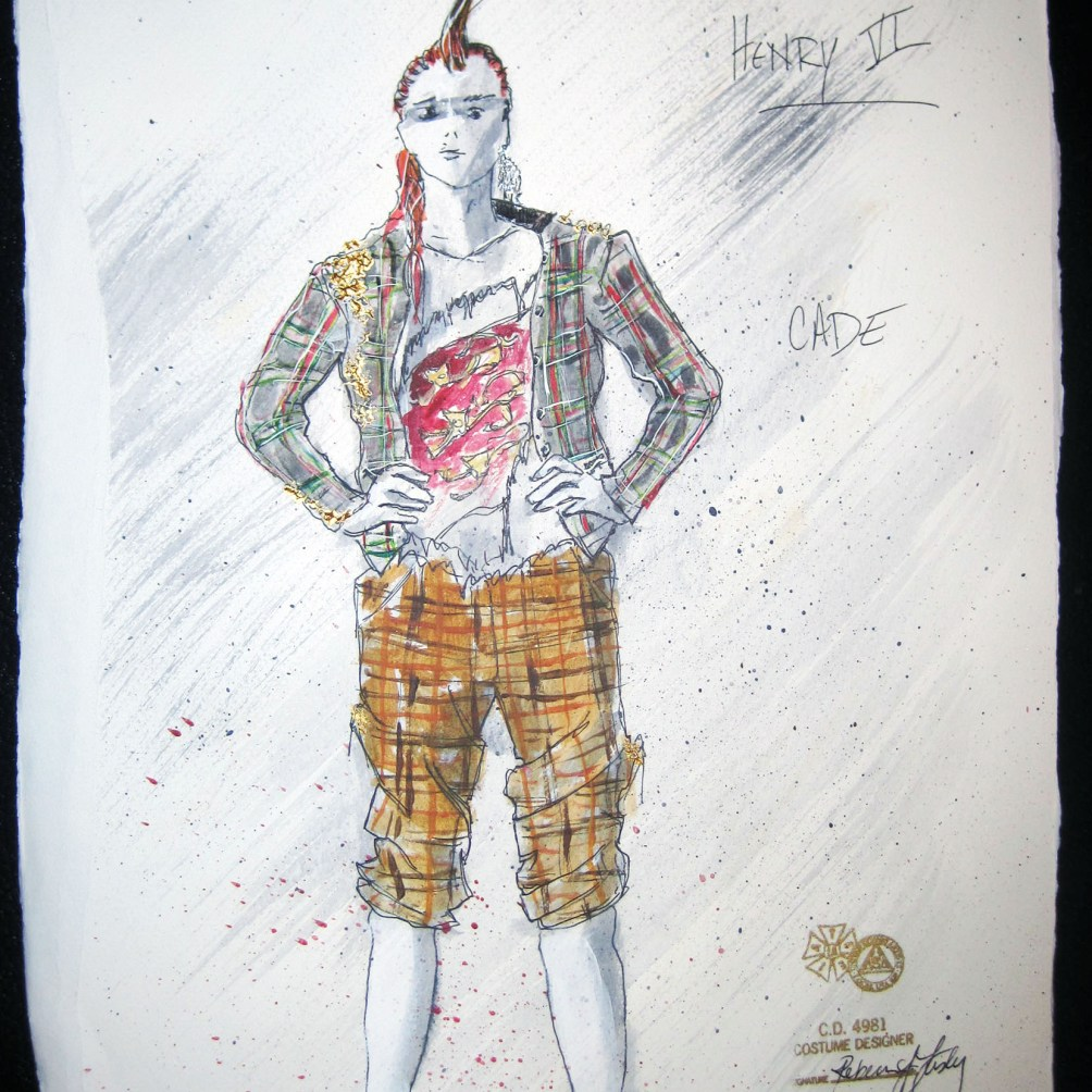 Cade - Henry VI (combined) - Costume Sketch by Rebecca Lustig