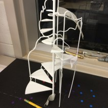 The 3D printed scale model of the staircase that Klara and her team sent to us at the start of build