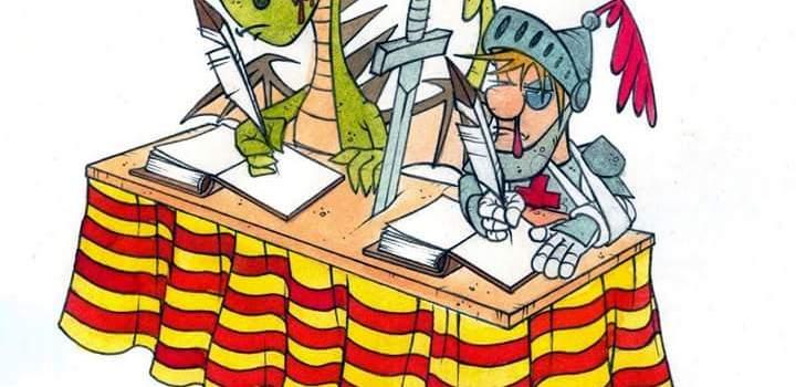 Dia del libro, Sant Jordi i el Drac