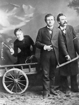 Nietzsche PaulRée y Lou von Salomé