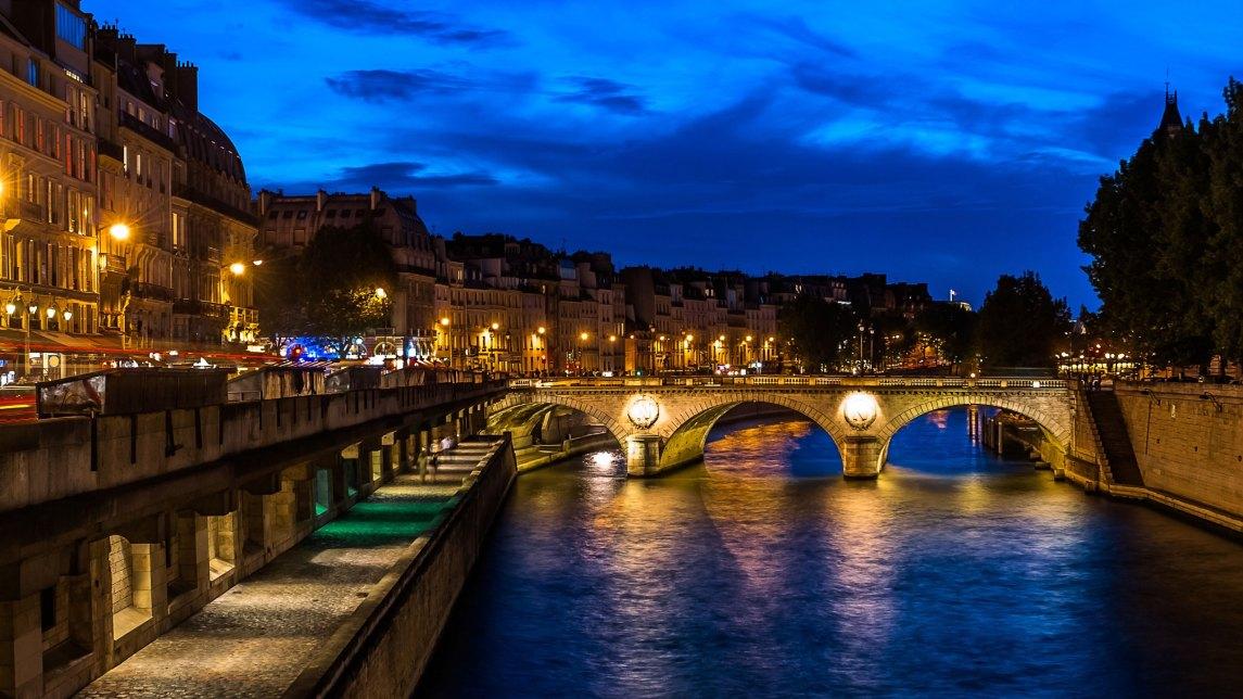 Seine River in Paris, France