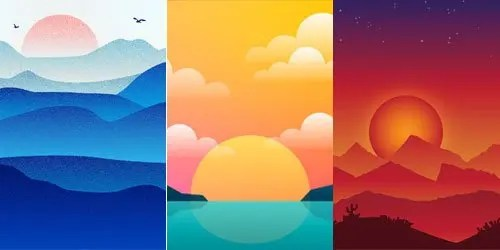 Ejemplos-de-tendencias-en-diseño-grafico-ejemplos-de-ilustraciones-que-usan-degradados-ambientales