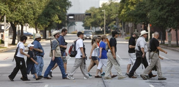 How should people respond to open-carry gun-rights activists?
