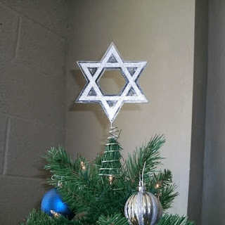 Is it ever okay to put a Star of David on a Christmas tree?