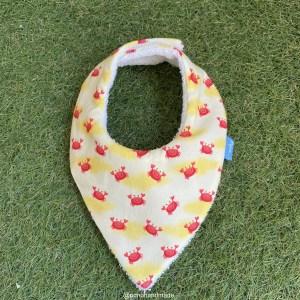 bandana babero babas cangrejos tela algodon artesanal
