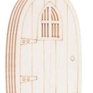 Puerta del ratoncito pérez o hada de los dientes con ventana para pintar manualidades