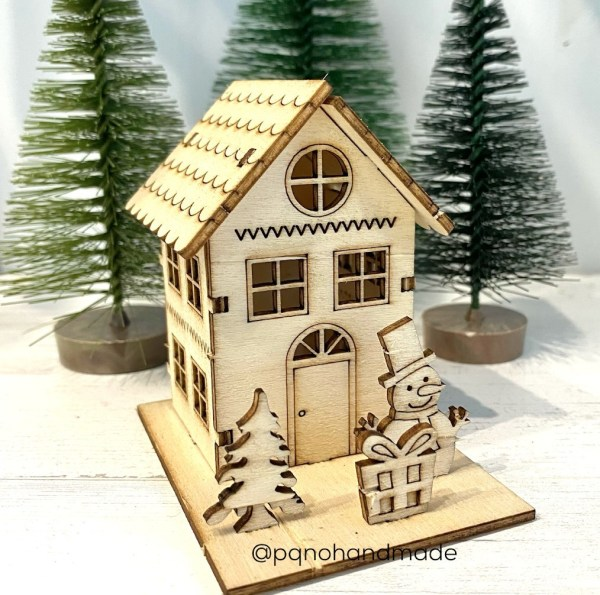 casita muñeco de nieve modelo 3