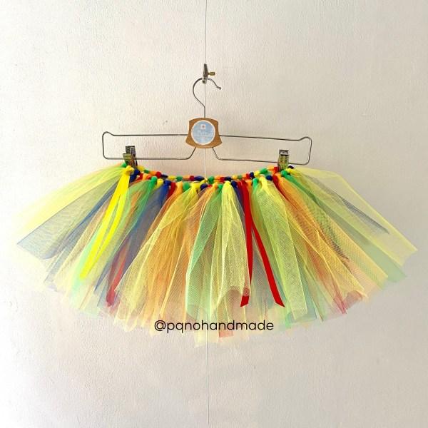 falda tul arco iris