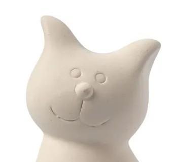 figura gato hucha ceramica cara