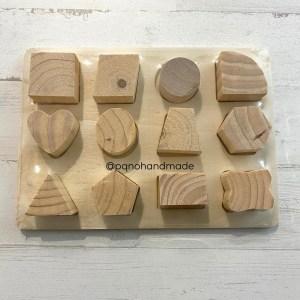 madera puzzle 12 piezas enteras pequeñas modelo 2